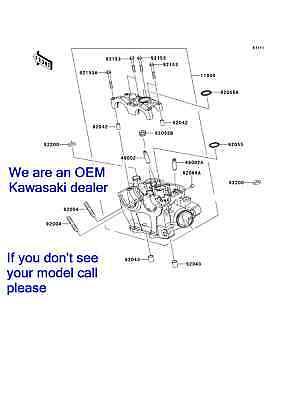 New OEM Factory Kawasaki 2006  2007 2008 KX 250F KX250F Cylinder Head 11008-0116