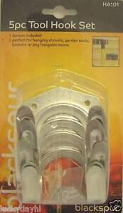 2-x-5Pc-Tool-Hook-Set-Hang-Hanger-Hanging-Garden-Tools