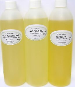 36-OZ-ORGANIC-PURE-JOJOBA-SWEET-ALMOND-OIL-AVOCADO-OIL