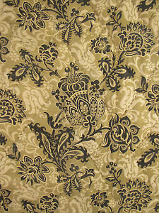 Antique-French-floral-quilte-2-sided-vichy-backing-c1890-Art-Nouveau-design