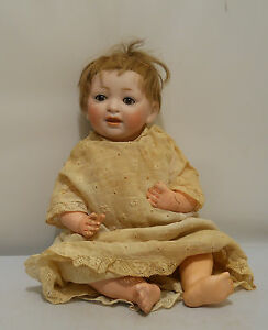 Antique-Bisque-Head-Baby-Doll-JDK-211-German-Original-Wig-Composition-Body-10-034