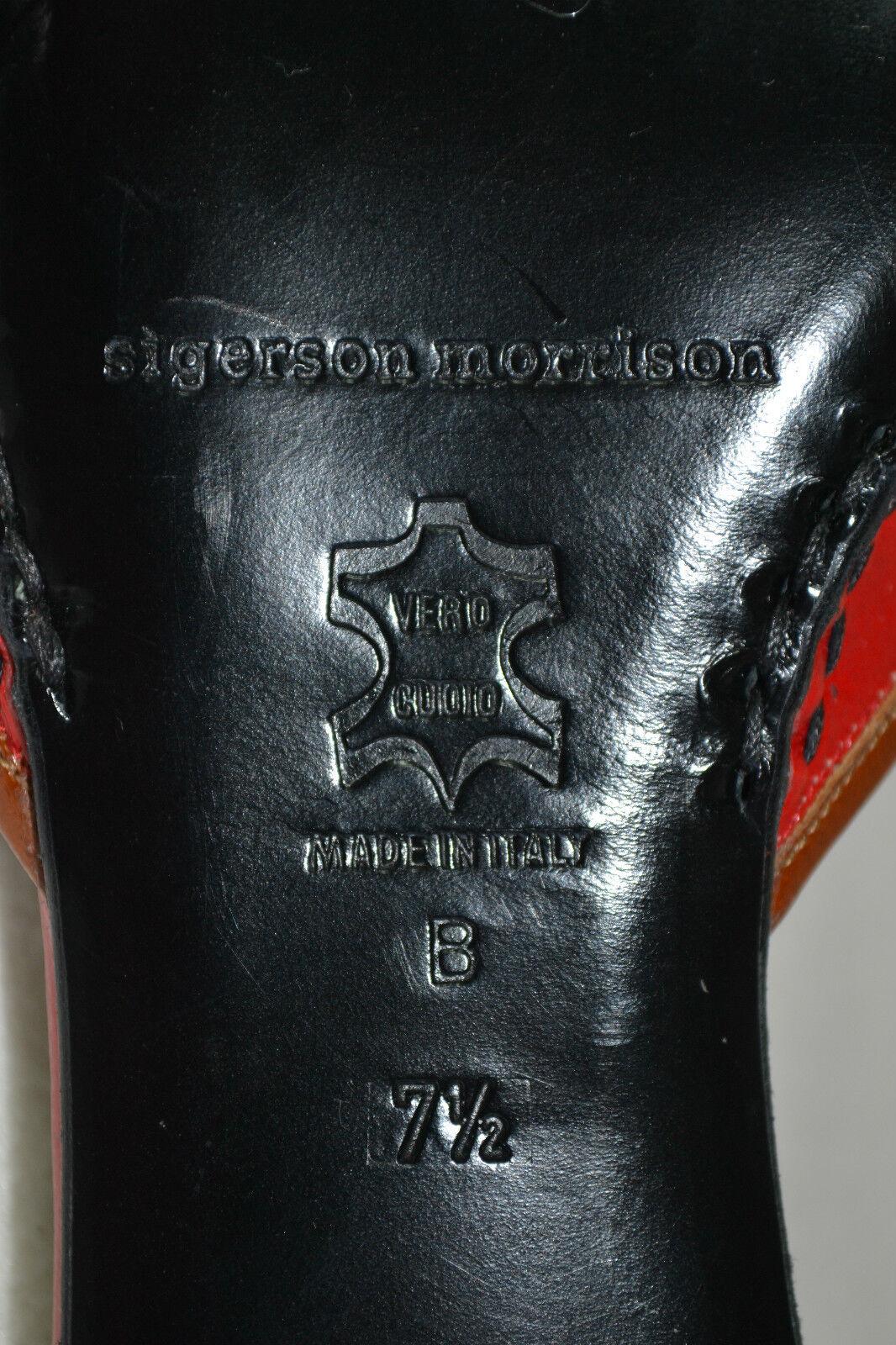 SIGERSON LEDER MORRISON SHOES Schuhe MULES LEDER SIGERSON 37,5 UK 4,5 USA 6,5 NEU  NEW edel d959cb