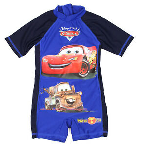 Kids-Boy-Cars-Mcqueen-amp-Mater-One-Piece-Swimsuit-Sunsafe-Swimwear-Surf-3-8-Year