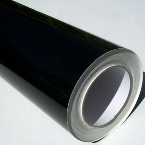 Gloss-Black-Sticky-Back-Plastic-Self-Adhesive-Sign-Vinyl-Fablon-61cm-x-5m-roll