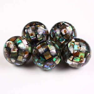 New Zealand Abalone Shell 20mm Round Disco Ball Loose Spacer Beads Craft Finding