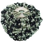 Atlas Tanks Atlas Homewares 3185 2-Inch Large Beaded Knob from the Bollywood Beauties, Black and White (782808623758)