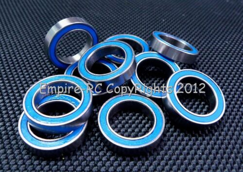 6701-2RS BLUE Rubber Sealed PRECISION Ball Bearing 5 PCS 12x18x4 mm