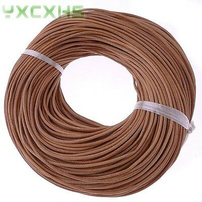 100meters 2mm natural genuine leather cord for jewelry making