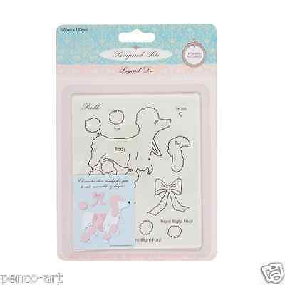 layered dies pampered pets poodle. use in Xcut, sizzix big shot machines etc.