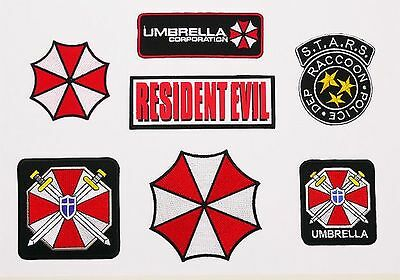 RESIDENT EVIL - Large Embroidered Patch Collection, Umbrella Corporation...