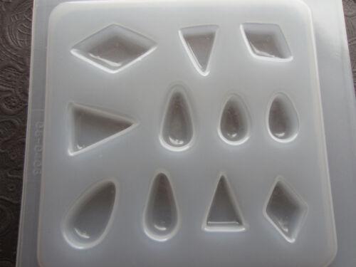 Resin Mold Jewelry Diamond Teardrop Triangle 11 Count Epoxy Chocolate Fondant