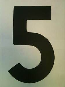 "11"" Standard Style Race Number No.5 in Black sold Each"