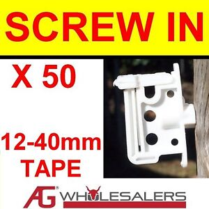 SCREW-IN-POLY-TAPE-INSULATOR-12mm-40mm-ELECTRIC-FENCE-W