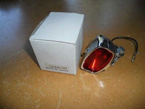 NOS Chrome Marker Light Lens Red Chopper Bobber Cafe Vintage