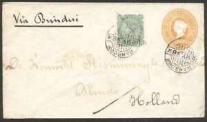 India-To-Netherlands-Uprated-Postal-Stationery-1898-L-K