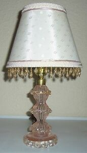 Murano-Glass-Gold-Dust-Boudoir-Lamp-W-Matching-Shade