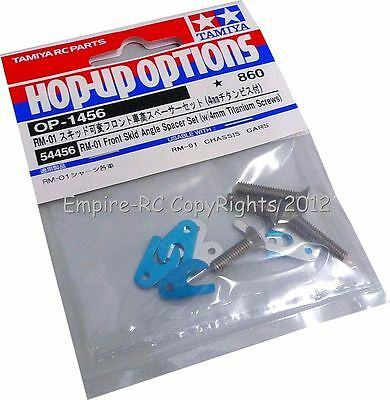 TAMIYA 54456 RC Front Skid Angle Spacer Set (w/4mm Titanium Screws) (FOR RM-01)