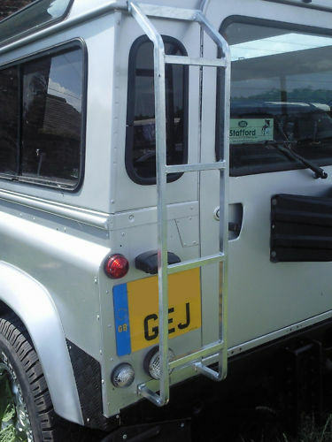 NEW Land Rover Defender GALVANISED Rear Access Roof Ladder 90 110 RACK
