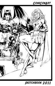 Ed-Benes-New-2011-COMICONART-SKETCHBOOK-Original-Art
