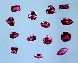 Lab-Created-Ruby-Hot-Pink-Choice-of-Cut-amp-Size-2mm-20mm