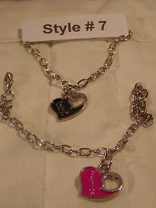 Couples-Bracelets-2-Bracelet-Set-Rhodium-Plated-Love-Friendship-Best-Friends-NEW