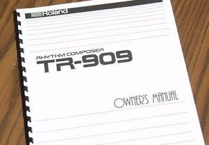 ROLAND Rhythm Composer TR-909 Drum Machine OWNERS MANUAL