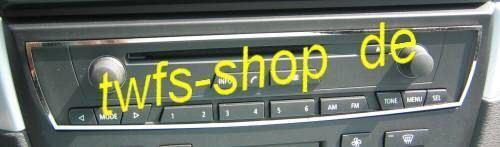 D BMW X3 Chrom  Rahmen Radio CD  Edelstahl poliert