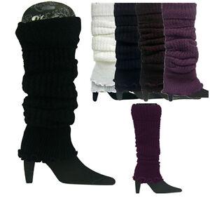 High-Quailty-Winter-Women-Knit-Crochet-Fashion-Leg-Warmers-Legging-4-Colors-NEW
