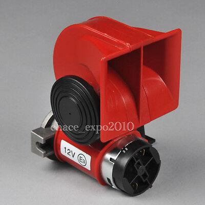Car Truck 12V Ultra Compact Dual Tone Electric Pump Vehicle Siren Air Loud Horn