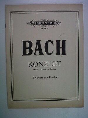 piano BACH Konzert D minor 2 pianos 4 hands