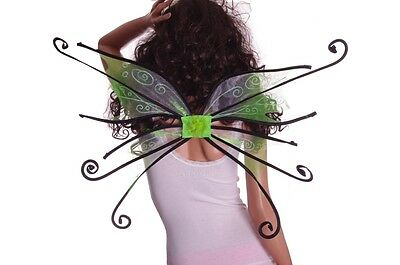 Womens Adult Halloween Costume Spider Fairy Pixie Wings Orange Black Pink NEW