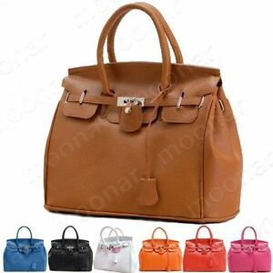 Hot-Celebrity-Girl-Faux-Leather-Handbag-Tote-Shoulder-Bags-Casual-Career-Purse