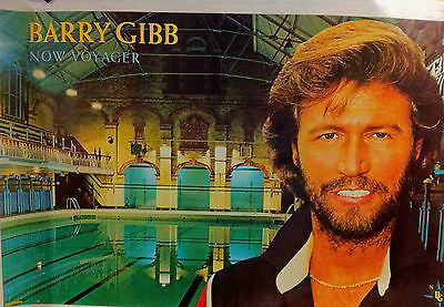 BARRY GIBB NOW VOYAGER HUGE POSTER NEW MINT UNUSED ORIGINAL BEE GEES