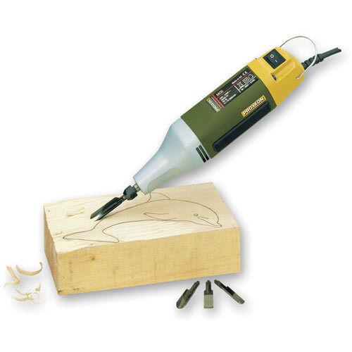 Brand New Proxxon MOS Motorised Carver 702047 Carving Tool + 3 blades 28644