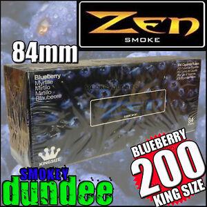 200-ZEN-BLUEBERRY-Flavoured-King-Size-Cigarette-Tubes-Blanks-84mm