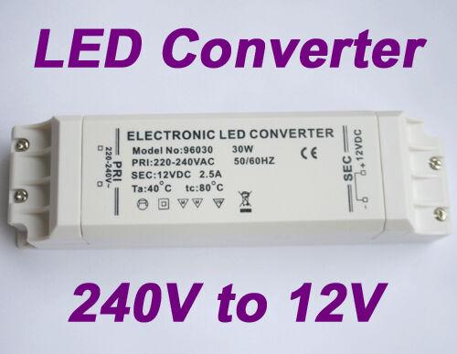 Neu 30W Trafo Transformator Adapter Driver für MR16 LED 230V to 12V DC