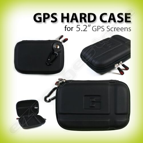 "5.2"" Inch Black Hard Shell Carrying GPS Case for Garmin Nuvi 2595LMT"