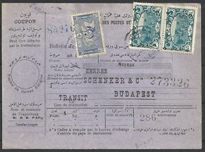 Turkey covers 1926 mixed franked Packetcard to Budapest