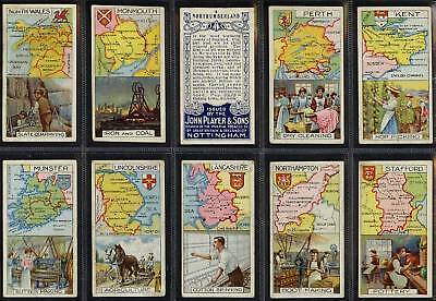 Full Set, Players, Counties & Their Industries 1915