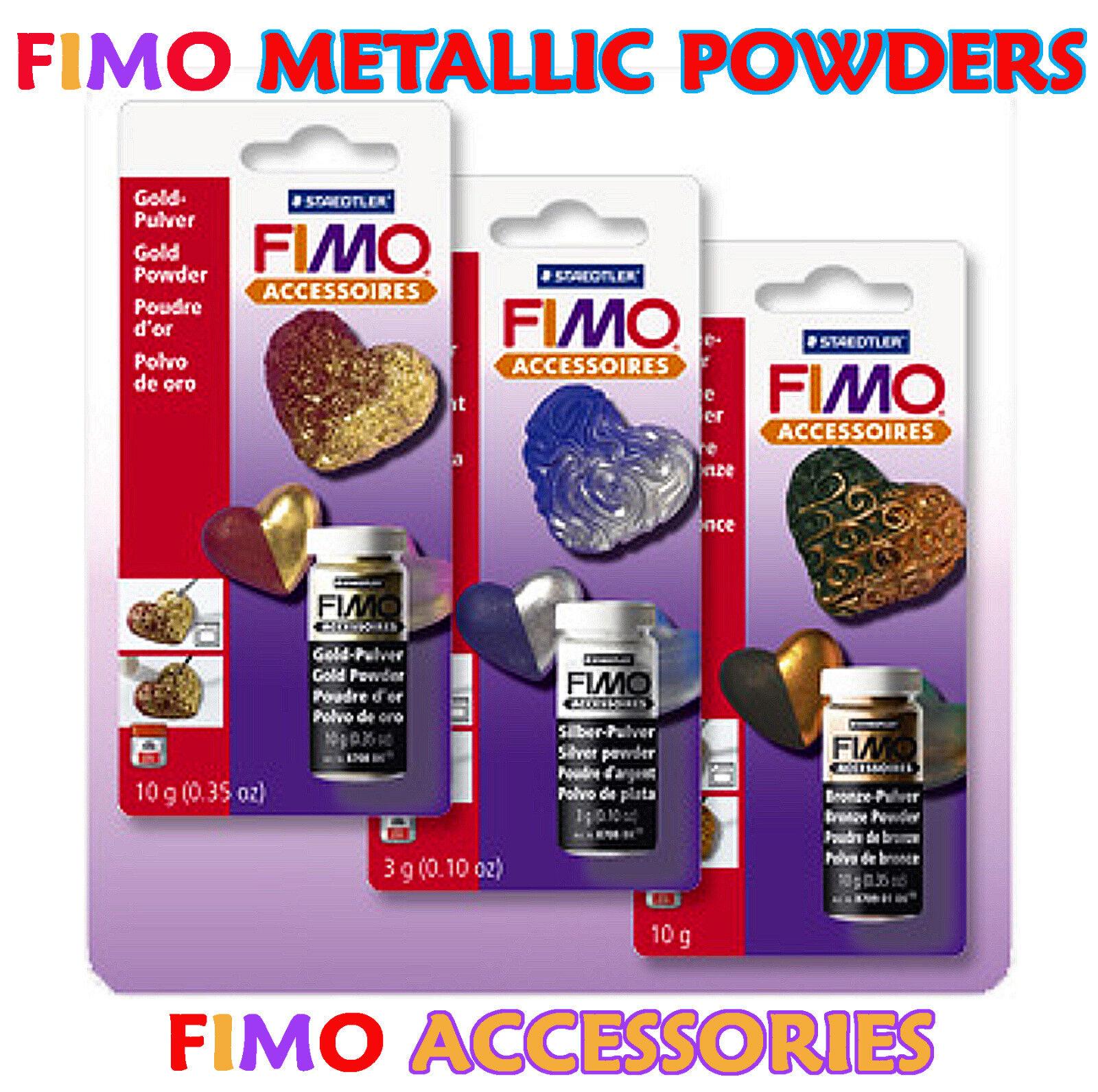 Creative Ideas Leicester: FIMO ACCESSORIES METALLIC GOLD / SILVER / BRONZE POWDERS