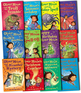 Oliver-Moon-Collection-Sue-Mongredien-12-Books-Set-Monster-Spider-Dragon-New