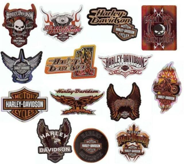 HARLEY DAVIDSON MOTORCYCLE STICKERS DECALS LOT SET OF 14