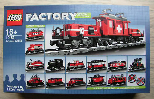 Lego 10183 - Schweizer Krokodil - Eisenbahnset - 30 Modelle - 9V NEU & OVP