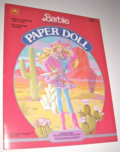 Golden 1990 Barbie Paper Doll Book PreCut Fashions *UNCUT*