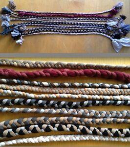 10-Strumpfzoepfe-von-100Stck-Laenge-55-75cm-fuer-Taschen-oder-Teppich