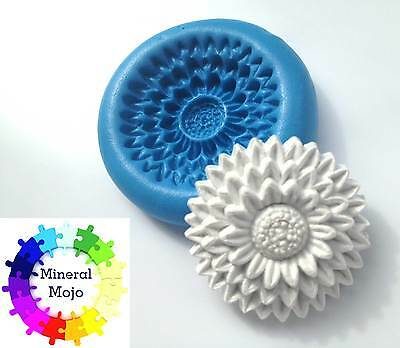 Large Flower #14 Silicone Mould Cupcake Toppers, Sugarcraft, Fimo, Jewellery