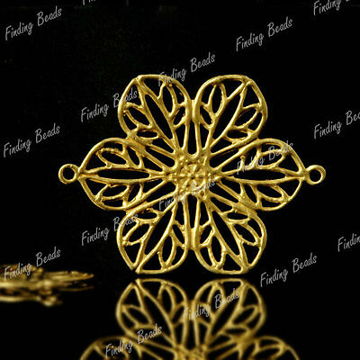 20pcs Flower Raw brass links Cabochon Filigree MB0549