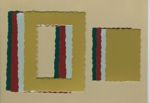 AccuCut Your choice of colors on Deckle Rectangle #1 Die Cuts