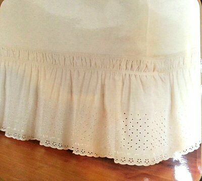 Wrap Around Eyelet Bed Ruffle Skirt