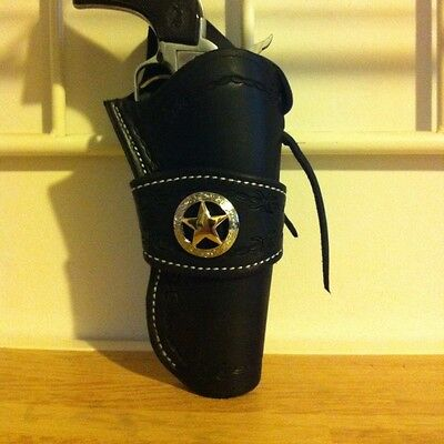 Western Leather Gun Holster  Single Action Revolver CROSS DRAW